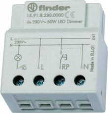 Finder Elektroniczny Przekaźnik impulsowy ze ściemniaczem, 500W 50Hz, do FCL i ś