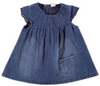 Name it Girls Baby Sukienka NITDETE medium blue denim 13129523