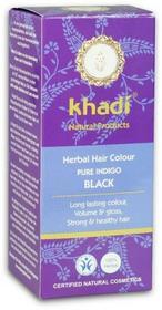 Khadi ziołowa indygo - czerń z niebieskim połyskiem 100 g