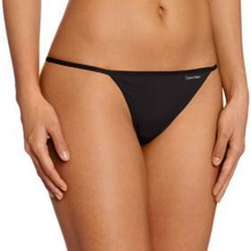 Calvin Klein Stringi underwear SLEEK - MODEL THONG dla kobiet, kolor: czarny, rozmiar: 38 (rozmiar producenta: M)
