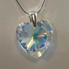 Serce z kryształkiem swarovskiego - CRYSTAL AB 18.00 mm (6215W2 18.0 mm)