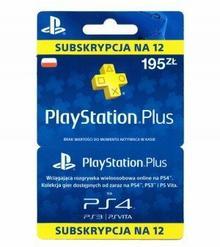 SONY Subskrypcja PlayStation Plus 12 miesięcy ( polska dystrybucja ) PSPLUS12M