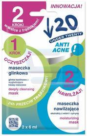 Dr Irena Eris Anti Acne Glinkowa maseczka 6 ml + nawilżająca maseczka 6 ml