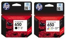 HP Zestaw oryginalny 650 czarny + kolor 650