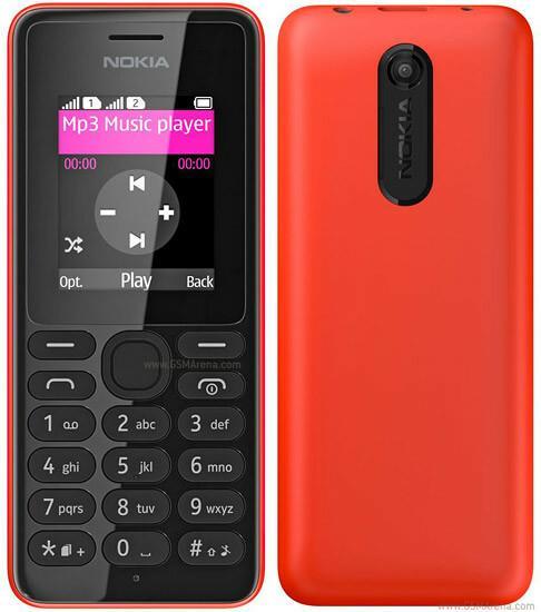 Nokia 108 Dual Czerwony