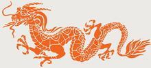 Szabloneria Naklejka feng shui 1 - chiński smok