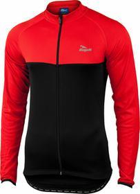 Rogelli CALUSO - lekko ocieplana Bluza rowerowa, kolor: Czarno-czerwony