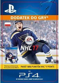 Sony NHL 17 5850 Punktów PS4 [kod aktywacyjny]