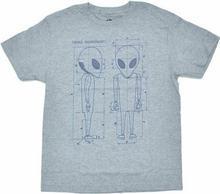 Alien Workshop koszulka - Blueprint Hthr Gray (SEDA)