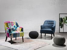 Beliani Fotel niebieski - fotel wypoczynkowy - do salonu - tapicerowany - MANDAL