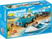 Playmobil Samochód z motorówką 6864