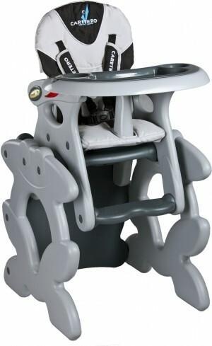 Caretero Krzesełko do karmienia PRIMUS szary PRIMUS/SZ