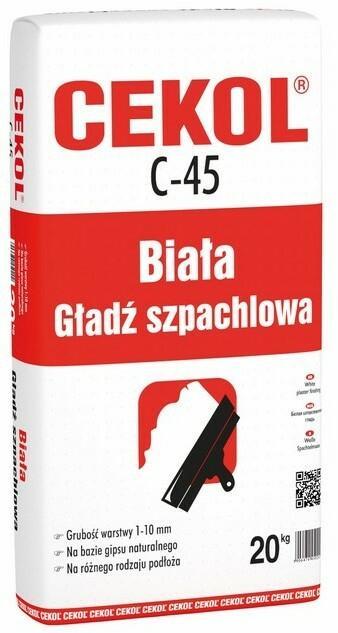 Cekol Biała gładź szpachlowa C-45 20 kg