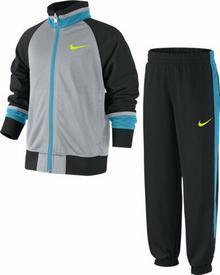 Nike Odzież Chłopięcy T45 T Cuff Track Suit LK - wolf grey/black/black/volt