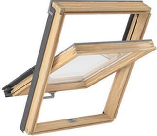 Magnetic Okno dachowe drewniane PLUS 78x118 z kołnierzem płaskim RLOKMAPLAAXM6A