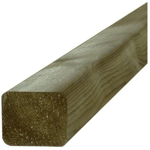 Blooma Legar drewniany sosna 2400 x 45 x 70 mm zielony