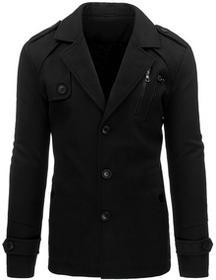 Płaszcz męski zimowy czarny (cx0327) cx0327_m Czarny