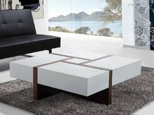 Nowoczesny stolik kawowy - ława - szuflady - 100 x 100 - EVORA