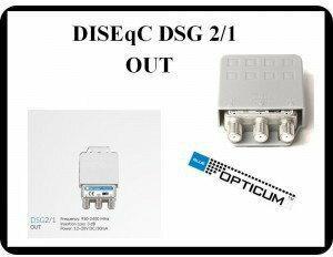 Opticum Przełącznik DiSEqC GLOBO DSG 2.1 2x1