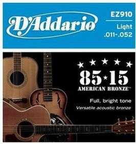 DAddariostruny do gitary akustycznej American Bronze EZ910