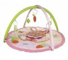 Canpol babies Mata edukacyjna dla dzieci Króliczek Różowa