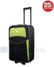PELLUCCI Mała kabinowa walizka PELLUCCI 773 S Czarno zielona - czarny / zielony