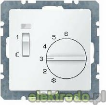 Regulator temperatury pomieszczenia ze stykiem rozwiernym, elementem centralnym,