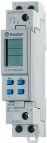Finder Programator tygodniowy elektroniczny 1CO 16A 230V AC 12-71-8-230-0000