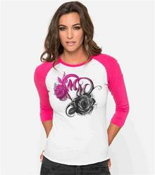 Metal Mulisha T-shirt - Passion RagLan Hot różowy (HPK )