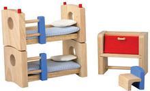 Drewniane mebelki dla lalek Pokój dziecinny Neo - mebelki do domku dla lalek, Pl