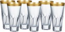 Bohemia Szklanki long drink Apollo Gold Crystalite