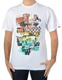 Vans T-Shirt męski OTW CHECKER BLASTER biały/Orange