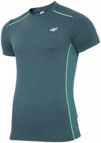 4F [T4Z16-TSMF202] Koszulka treningowa męska TSMF202 szmaragd ciemny [T4Z16-TSMF202] Mens active T-shirt TSMF202 dar
