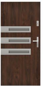 Drzwi zewnętrzne stalowe Stratus Wega 90 lewe orzech