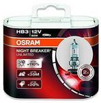 Opinie o Osram Night Breaker Unlimited HB3 9005NBU-HCB żarówka halogenowa do reflektorów samochodowych, napięcie 12 V, w opakowaniu 2 sztuki 9005NBU-HCB