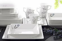 OXFORD QUARTIER BLUE NILE - Zastawa stołowa obiadowo-kawowa 30 części dla 6 osób
