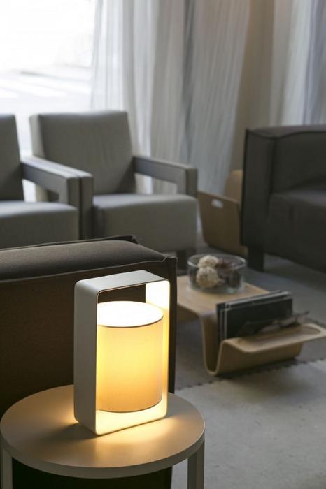 Faro Barcelona Lula Lampa stołowa Biały, 1-punktowy 28380