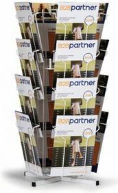 B2B Partner Obrotowy stojak stołowy na ulotki, 16x A4 104009