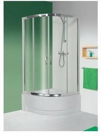 Sanplast Tx 4 90 KP4/TX4-90 90x90 profil srebrny błyszczący szkło W0 + brodzik 602-271-0362-38-401