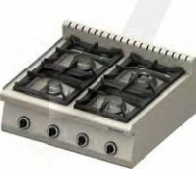 Stalgast Kuchnia nastawna gazowa 970613 4-palniki (3,5+2x5+7)