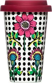 Sagaform Porcelanowy Kubek termiczny z pokrywką Bloom 250 ml Cafe SF-5017103