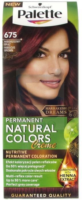 Schwarzkopf Palette Permanent Natural Colors 675 Hibiskusowy Brąz