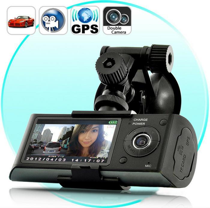 CarCam Wysokiej Jakości Cyfrowy Rejestrator Obrazu/Trasy z Wbudowanymi 2-Kameram