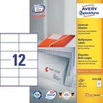 Avery Zweckform Etykiety uniwersalne Zweckform trwałe 105 x 48mm 200 ark./op. 3424-200