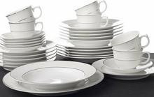 OXFORD FLAMINGO DIAMOND - Zastawa stołowa obiadowo-kawowa 30 części dla 6 osób