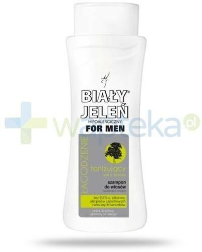 Pollena SP. Z O.O. SP.K. Biały Jeleń For Men łagodzący szampon tonizujący z sokiem z brzozy do skóry wrażliwej 300 ml 7062455