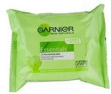 Garnier Essentials chusteczki oczyszczające do cery normalnej i mieszanej 25szt.