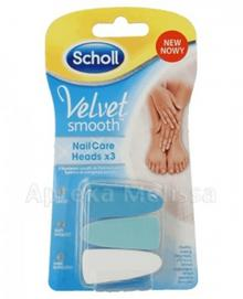 Scholl Wymienne głowice do Velvet Smoot Nail Care Heads 3szt.