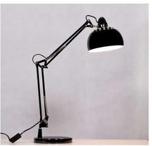 Lumina Stojąca LAMPKA biurkowa RIGORRIA LDT 8815 3 BL Deco metalowa LAMPA regulowana czarna