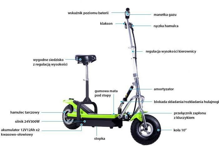 KIDZ-MOTION Hulajnoga Elektryczna Frugal